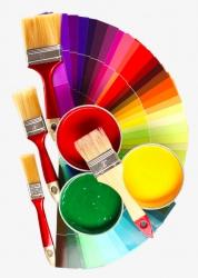 Два вида колеровки краски